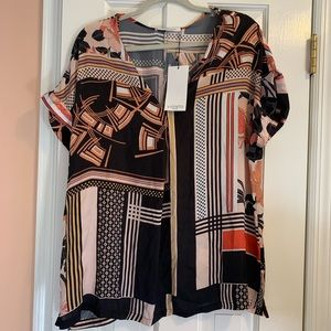 NWT! Multi pattern Top